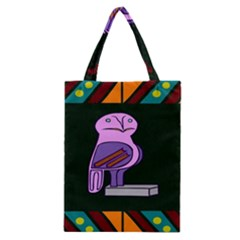 Owl A Colorful Modern Illustration For Lovers Classic Tote Bag