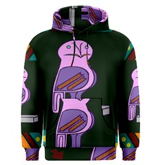 Owl A Colorful Modern Illustration For Lovers Men s Pullover Hoodie