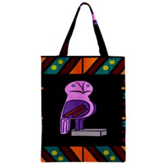 Owl A Colorful Modern Illustration For Lovers Zipper Classic Tote Bag