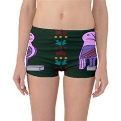 Owl A Colorful Modern Illustration For Lovers Boyleg Bikini Bottoms