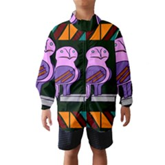 Owl A Colorful Modern Illustration For Lovers Wind Breaker (kids)