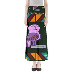 Owl A Colorful Modern Illustration For Lovers Maxi Skirts