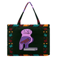 Owl A Colorful Modern Illustration For Lovers Medium Zipper Tote Bag