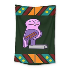 Owl A Colorful Modern Illustration For Lovers Small Tapestry