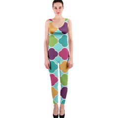 Colorful Quatrefoil Pattern Wallpaper Background Design OnePiece Catsuit