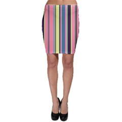 Seamless Colorful Stripes Pattern Background Wallpaper Bodycon Skirt