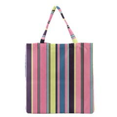 Seamless Colorful Stripes Pattern Background Wallpaper Grocery Tote Bag