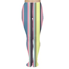 Seamless Colorful Stripes Pattern Background Wallpaper Women s Tights