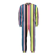 Seamless Colorful Stripes Pattern Background Wallpaper OnePiece Jumpsuit (Kids)