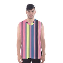 Seamless Colorful Stripes Pattern Background Wallpaper Men s Basketball Tank Top