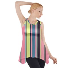 Seamless Colorful Stripes Pattern Background Wallpaper Side Drop Tank Tunic
