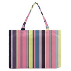 Seamless Colorful Stripes Pattern Background Wallpaper Medium Zipper Tote Bag