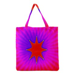 Pink Digital Computer Graphic Grocery Tote Bag