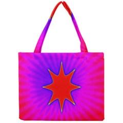 Pink Digital Computer Graphic Mini Tote Bag