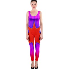 Pink Digital Computer Graphic Onepiece Catsuit