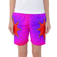 Pink Digital Computer Graphic Women s Basketball Shorts