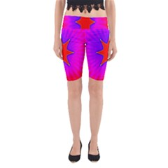 Pink Digital Computer Graphic Yoga Cropped Leggings