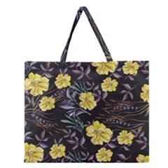 Wildflowers Ii Zipper Large Tote Bag
