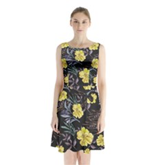 Wildflowers Ii Sleeveless Chiffon Waist Tie Dress