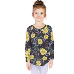 Wildflowers Ii Kids  Long Sleeve Tee