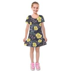 Wildflowers Ii Kids  Short Sleeve Velvet Dress