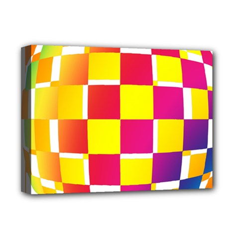 Squares Colored Background Deluxe Canvas 16  x 12