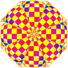 Squares Colored Background Hook Handle Umbrellas (Medium)