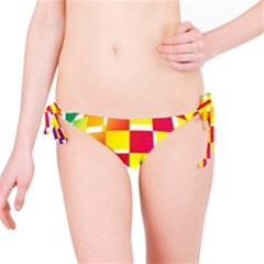 Squares Colored Background Bikini Bottom