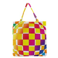 Squares Colored Background Grocery Tote Bag