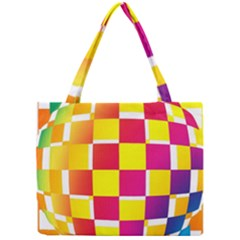 Squares Colored Background Mini Tote Bag