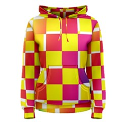Squares Colored Background Women s Pullover Hoodie
