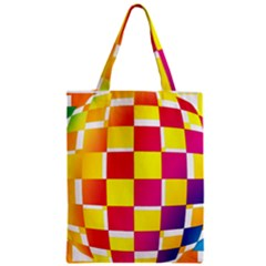 Squares Colored Background Zipper Classic Tote Bag