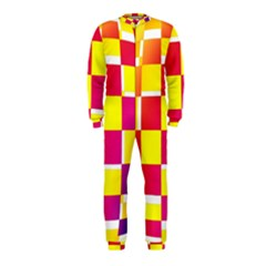 Squares Colored Background OnePiece Jumpsuit (Kids)