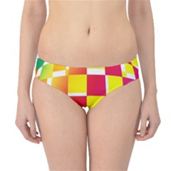 Squares Colored Background Hipster Bikini Bottoms