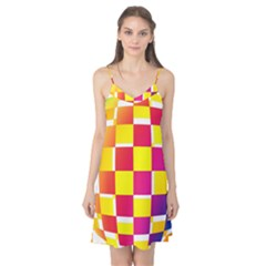 Squares Colored Background Camis Nightgown