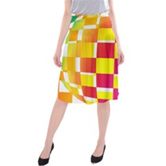 Squares Colored Background Midi Beach Skirt