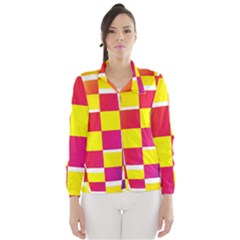 Squares Colored Background Wind Breaker (Women)