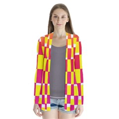 Squares Colored Background Cardigans
