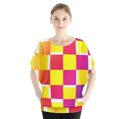Squares Colored Background Blouse