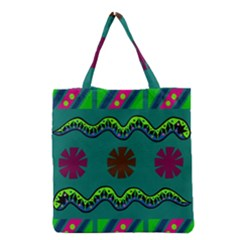 A Colorful Modern Illustration Grocery Tote Bag