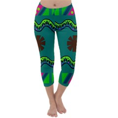 A Colorful Modern Illustration Capri Winter Leggings