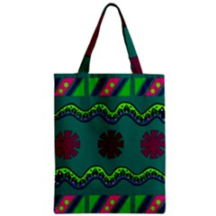 A Colorful Modern Illustration Zipper Classic Tote Bag
