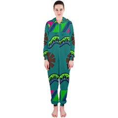 A Colorful Modern Illustration Hooded Jumpsuit (Ladies)