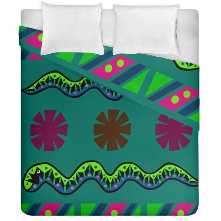 A Colorful Modern Illustration Duvet Cover Double Side (California King Size)