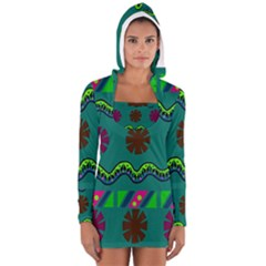 A Colorful Modern Illustration Women s Long Sleeve Hooded T-shirt
