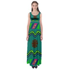 A Colorful Modern Illustration Empire Waist Maxi Dress