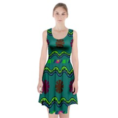 A Colorful Modern Illustration Racerback Midi Dress