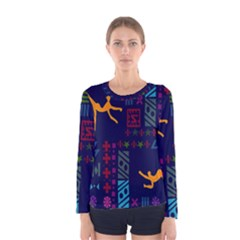 A Colorful Modern Illustration For Lovers Women s Long Sleeve Tee