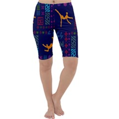A Colorful Modern Illustration For Lovers Cropped Leggings