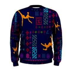 A Colorful Modern Illustration For Lovers Men s Sweatshirt